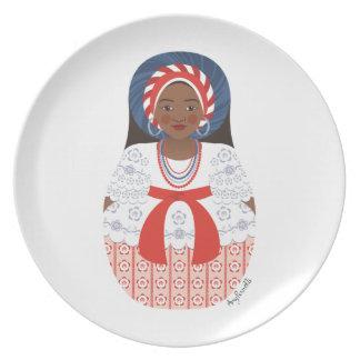 Bahia Brazilian Matryoshka Plate