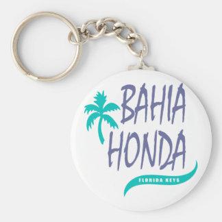 Bahia Honda Florida Keys palm tree Basic Round Button Keychain