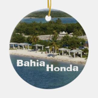Bahia Honda Florida Round Ceramic Ornament