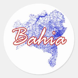 Bahia Round Sticker