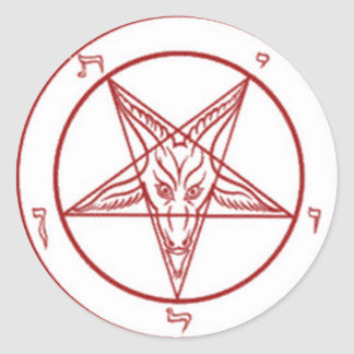 Bahpomet pentagram Round Stickers