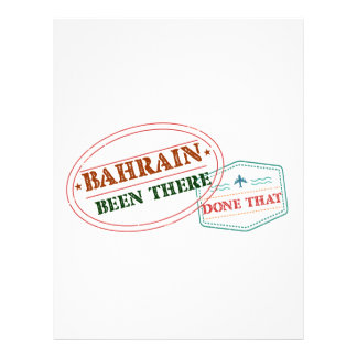 Bahrain Been There Done That Letterhead