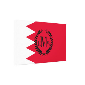 Bahrain Flag Canvas Print