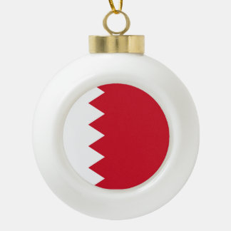 Bahrain Flag Ceramic Ball Christmas Ornament