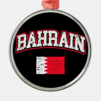 Bahrain Flag Metal Ornament