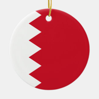 Bahrain Flag Round Ceramic Ornament