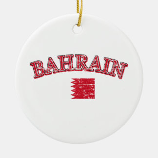 Bahrain football design round ceramic ornament