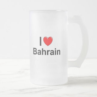 Bahrain Frosted Glass Beer Mug