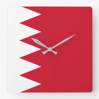 Bahrain National World Flag Square Wall Clock
