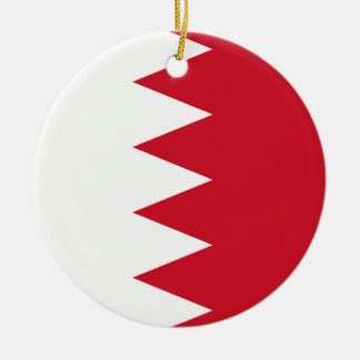 Bahrain Round Ceramic Ornament