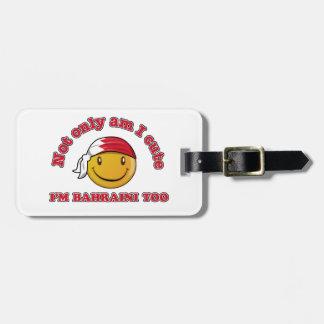 Bahrain smiley flag designs luggage tag