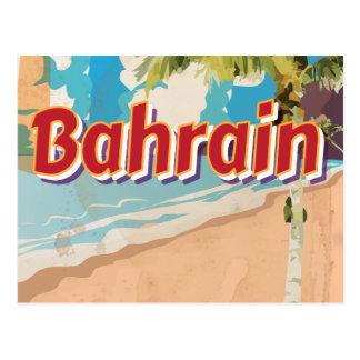 Bahrain Vintage travel poster Postcard