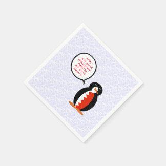 Bahraini Holiday Mr. Penguin Paper Napkins
