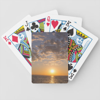 Baikal sunset bicycle playing cards