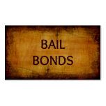 Bail Bonds Antique Business Card