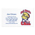 bail bonds bulldog handcuffs business card