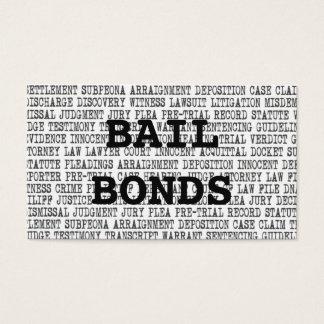Bail Bonds Legal Words Business Card
