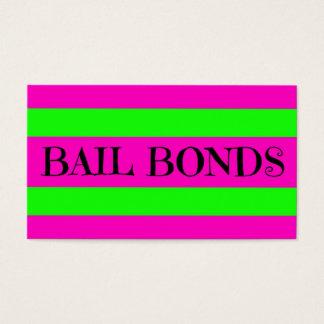 Bail Bonds Neon Colors Business Card