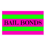Bail Bonds Neon Colours Business Card