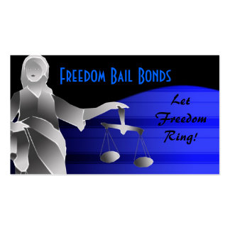 Bail bonds pack of standard business cards