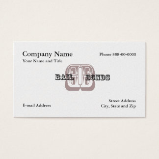 Bail Bondsman Business Card