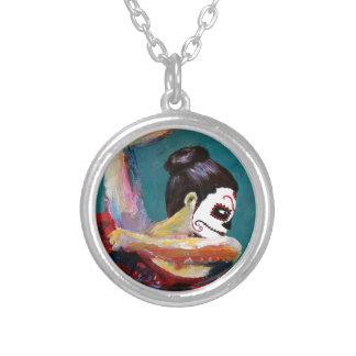 Bailan de los Muertos Silver Plated Necklace
