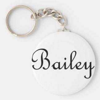 Bailey Basic Round Button Keychain