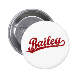 Bailey script logo in red pins