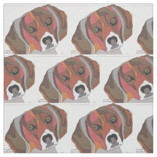 Bailey the Beagle Fabric by the yard