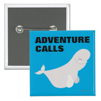 Bailey the Beluga Whale 2 Inch Square Button