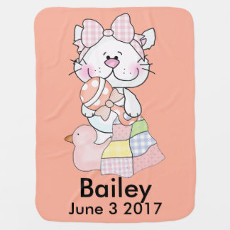 Bailey's Personalized Kitty Baby Blanket