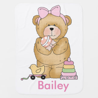 Bailey's Teddy Bear Personalized Gifts Baby Blanket