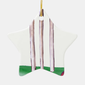 BAILS cricket, tony fernandes Ceramic Star Ornament