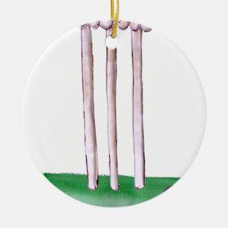 BAILS cricket, tony fernandes Round Ceramic Ornament