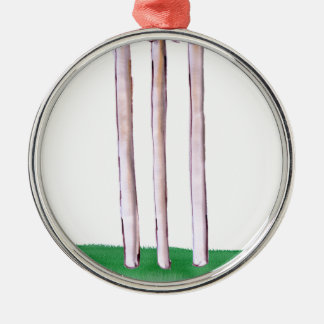 BAILS cricket, tony fernandes Silver-Colored Round Ornament