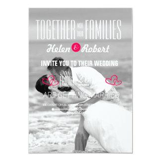 Baiser de mariage de plage carton d'invitation  12,7 cm x 17,78 cm
