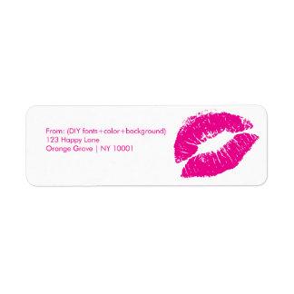 Baiser/lèvres/roses indien de PixDezines Étiquette D'adresse Retour