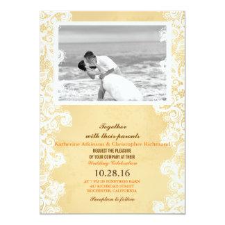 Baiser noir et blanc de mariage de plage carton d'invitation  12,7 cm x 17,78 cm