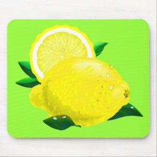 Baisses de citron tapis de souris