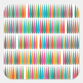 Baisses multicolores abstraites d'art de bruit sticker carré