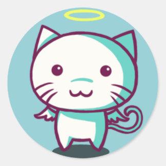 Bait Cat Classic Round Sticker