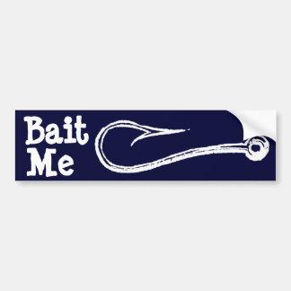 Bait Me Fishing Hook Bumpersticker Bumper Sticker