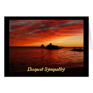 Baja Beach Sunset Deepest Sympathy Card