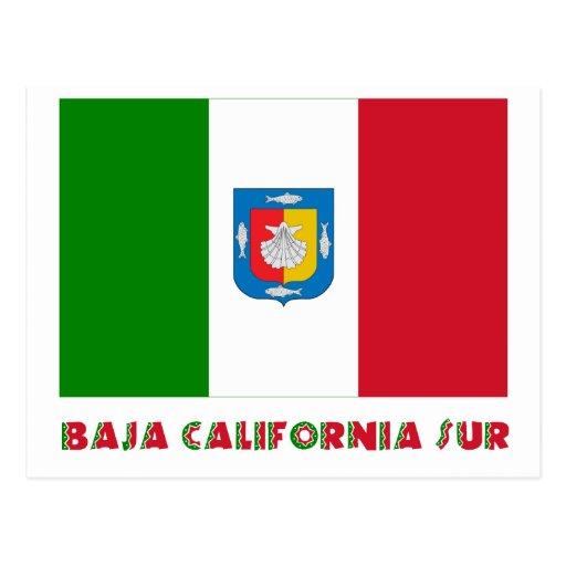 Baja California Sur Unofficial Flag Postcards