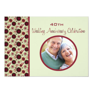 Baja - Photo Wedding Anniversary Invitation