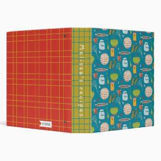 BAKE A PIE binder.teal.red 3 Ring Binder