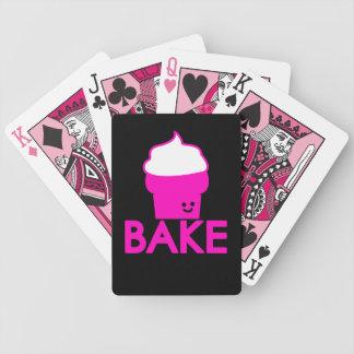 Bake - Cupcake Design Bicycle Playing Cards