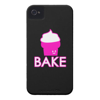 Bake - Cupcake Design - White Text iPhone 4 Case-Mate Case