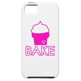 Bake - Cupcake Design - White Text iPhone 5 Cases