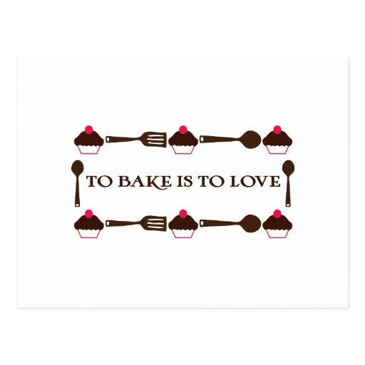 Bake est aimer cartes postales